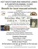 HOT SHOTZ BAR AND MANATEE LANES & PLANTATION ANIMAL CLINIC CORDIALLY INVITES YOU TO ATTEND