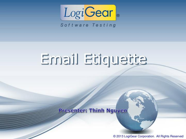 email etiquette n.