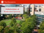 Admissions at Northeastern  University