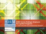 SHRM Survey Findings: Employee Recognition Programs