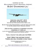 Coming to the Williamson County Regional Airport B-24 'Diamond Lil'