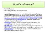 What's Influence?