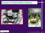 Synopsis of Automobile Industry