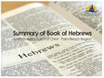 Summary of Hebrews Chapter 13
