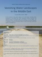 Public Thesis Defence & Symposium Vanishing Water Landscapes