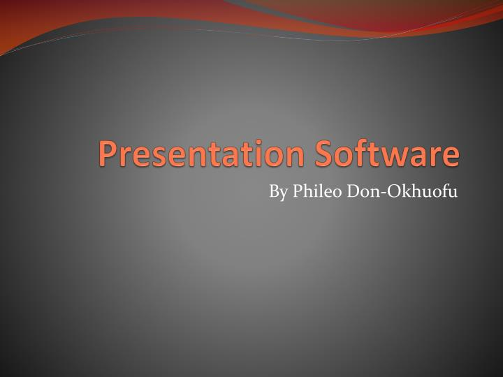 presentation software n.