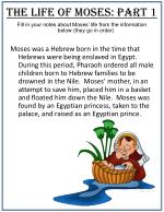 The Life of Moses: Part 1