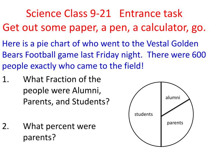 PPT - Science Class 9-21 Entrance task Get out some paper, a pen, a