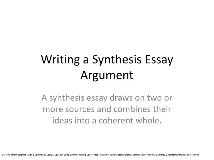 writing a synthesis essay argument n.