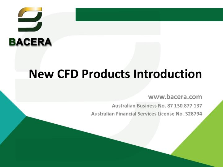 new cfd products introduction n.