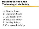 Material Science and Technology Lab Safety