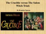 The Crucible versus The Salem Witch Trials