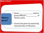 What is Genre?