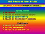 The Feast of First Fruits