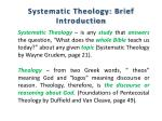 Systematic Theology: Brief Introduction