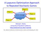 A  Lyapunov  Optimization Approach     to Repeated Stochastic Games