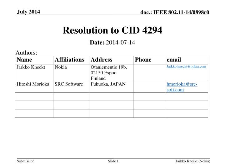 resolution to cid 4294 n.