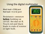 Using the digital multimeter