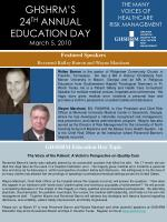 Featured Speakers Reverend Ridley Barron and Wayne Marchant