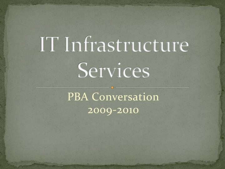 it infrastructure services n.