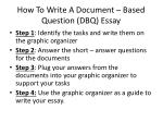 How To Write A Document – Based Question (DBQ) Essay