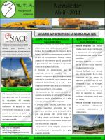 Newsletter Abril - 2011