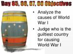 Analyze the causes of World War I Judge who is the guiltiest country for causing World War I