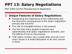 PPT 13: Salary Negotiations  MGT 4384 Conflict Management & Negotiation
