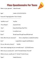 Pizza Questionnaire For Teens