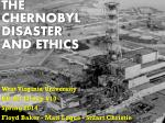 The Chernobyl Disaster and Ethics