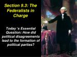 Section 9.3: The Federalists in Charge