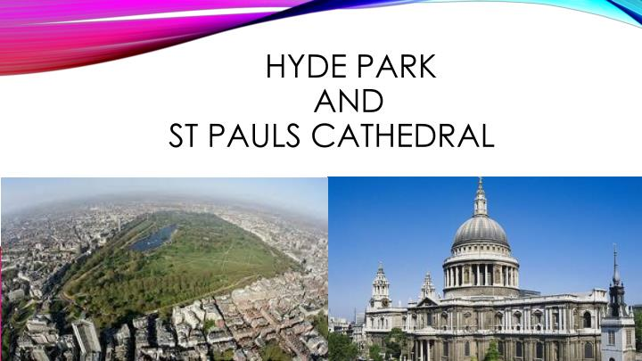 hyde park and st pauls cathedral n.