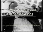 Frank McCourt and Angela's Ashes
