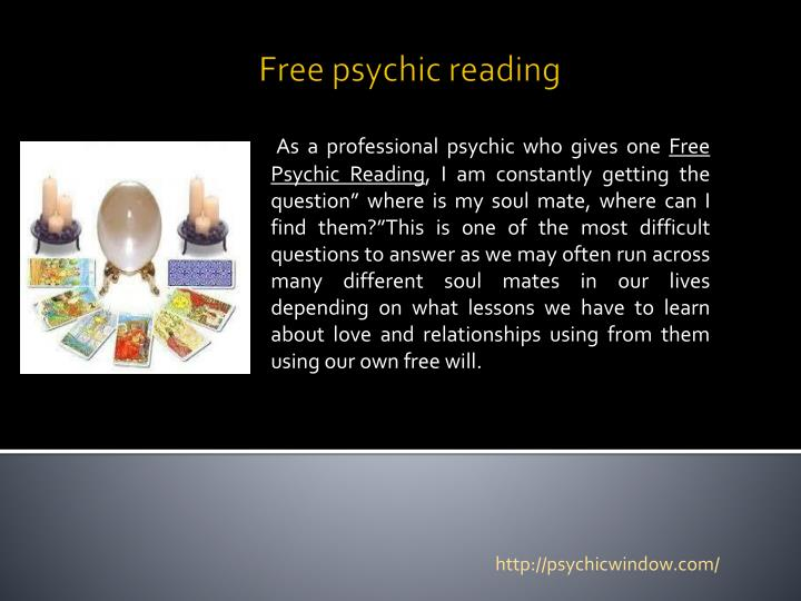 PPT - Psychic readings PowerPoint Presentation - ID:2644365