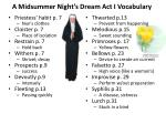 A Midsummer Night's Dream Act I Vocabulary