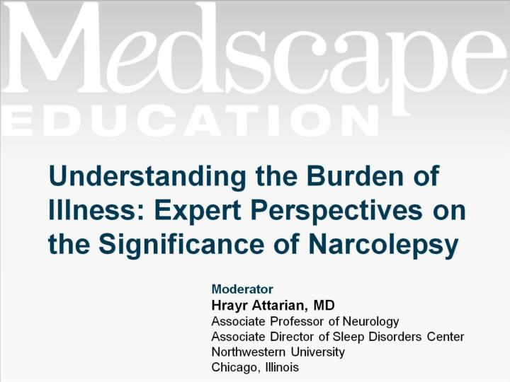 understanding the burden of illness expert perspectives on the significance of narcolepsy n.