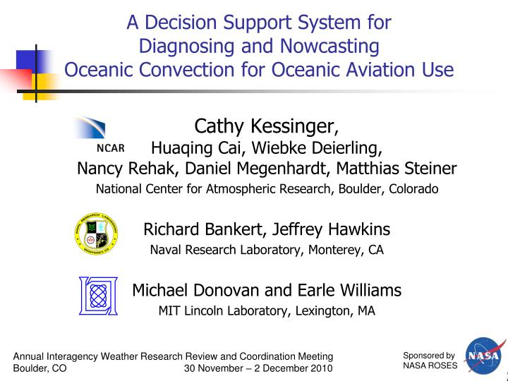 a decision support system for diagnosing and nowcasting oceanic convection for oceanic aviation use n.