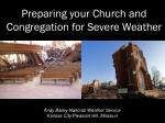 Preparing your Church and Congregation for Severe Weather