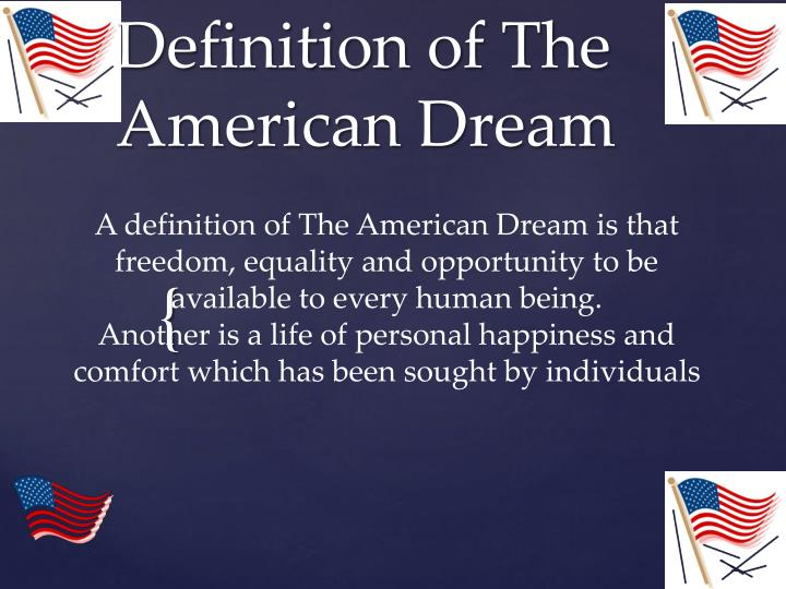 definition of the american dream n.