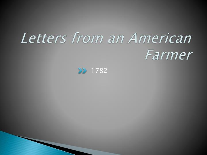 letters from an american farmer n.