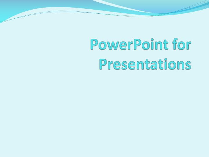 powerpoint for presentations n.