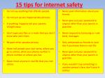15 tips for internet safety