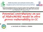 Potential  contributions on use of  HidroMORE  model in olive  groves vulnerability  to CC