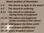 1-3 The church as light to the world 4-7 The church in suffering