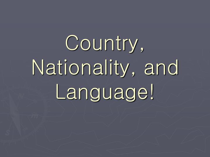 country nationality and language n.