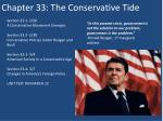 Chapter 33: The Conservative Tide