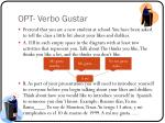 OPT- Verbo Gustar