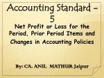 Net Profit or Loss for the Period, Prior Period Items and Changes in Accounting Policies