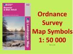 Ordnance Survey Map Symbols 1: 50 000 Nav  1_2_02
