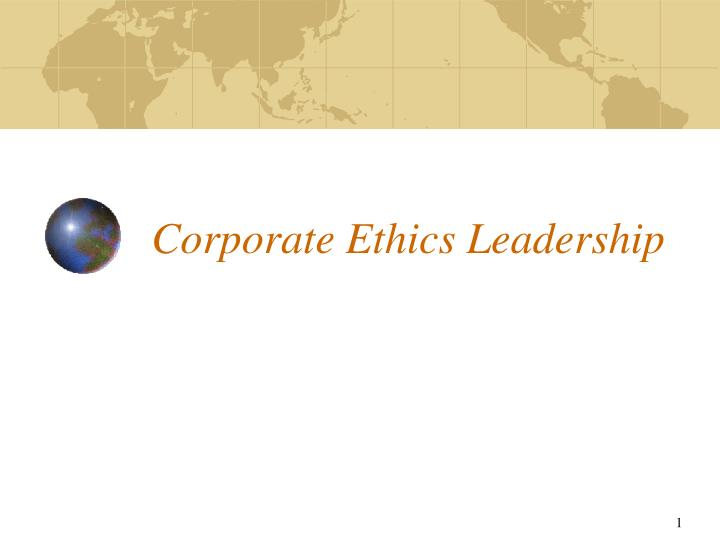 corporate ethics leadership n.